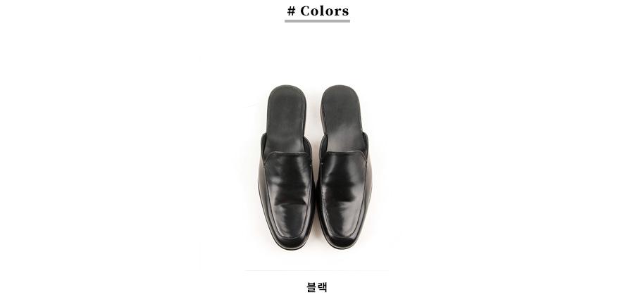 레더리스(LEATHERLESS) # 0224 / 슬립온블로퍼 / 블랙 / for men